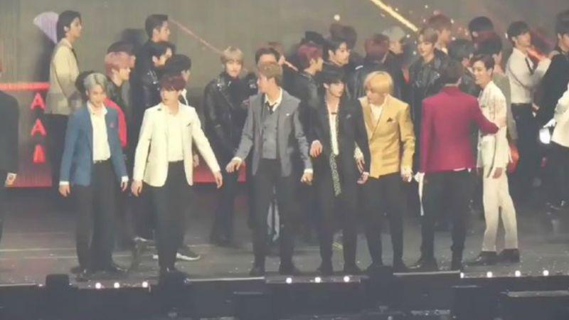 「2018 AAA」GOT7 BamBam超有sense!Feat.BTS防弹少年团