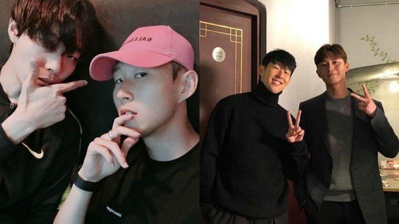 朴叙俊、柳俊烈同日到场观看孙兴慜比赛,是在拍摄tvN新节目?