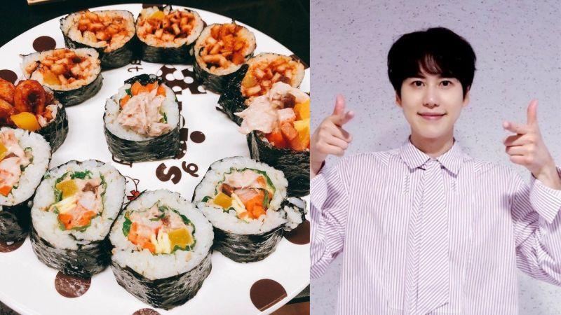 终於摆脱「汉江拉面」的魔咒?SJ圭贤分享了自己做的紫菜饭卷,看起来很美味呢!