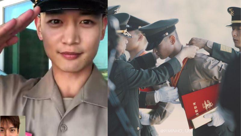 到哪里都让人骄傲!SHINee珉豪参加海军陆战队结业式,在1100名的训练生中获得第三名!