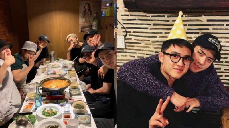 EXO聚餐为即将入伍的D.O.践行!专用聚餐POSE又上线了~