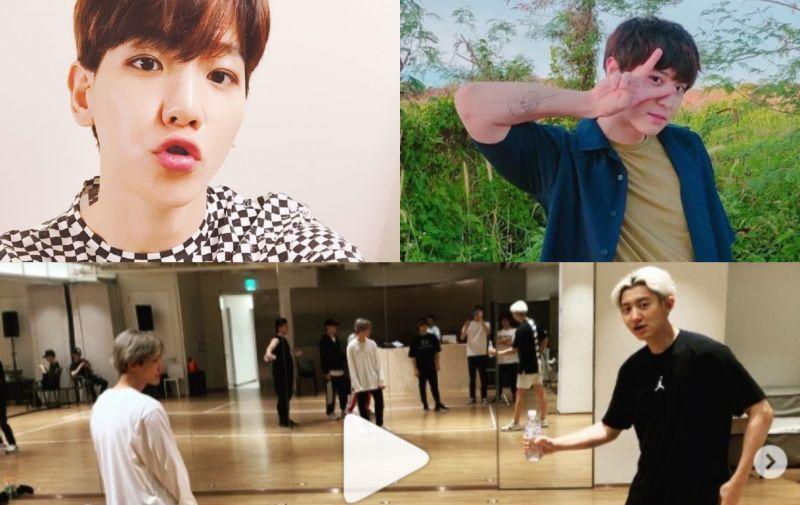 EXO 伯贤紧跟IG「踢瓶盖挑战」热潮 可受伤的总是他?