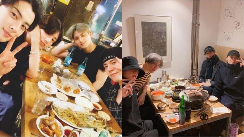 超有爱的「97LINE」聚餐啦!田柾国、车银优、金珉奎、金有谦公开合照