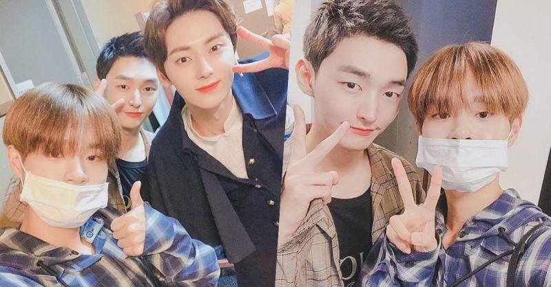 Wanna One尹智圣&黄旼炫&李大辉中秋合影! 原来是一起看旼炫的音乐剧~