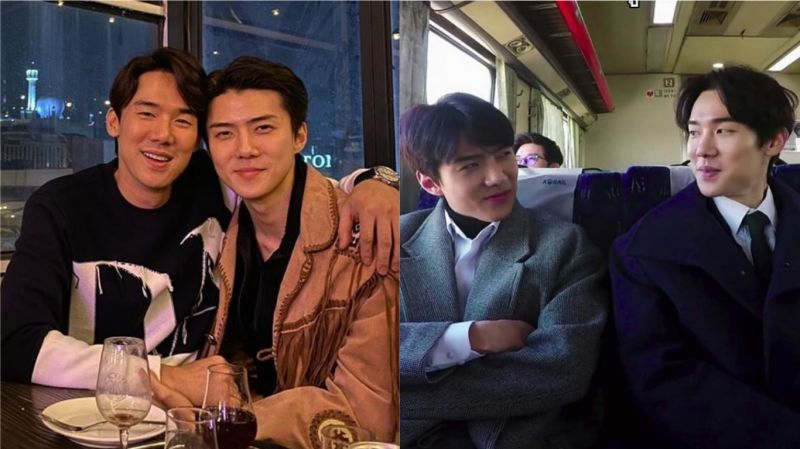 EXO世勋参加完电影《鬼影特攻:以暴制暴》活动后…和柳演锡深夜会面!