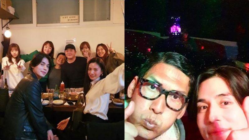 李栋旭&NANA&Sunny同框,40岁的他比女爱豆的皮肤还要白,头还要小XD