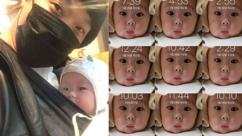 「女儿傻瓜」HAHA手机锁屏是小女儿照片,并写道:「每个瞬间都喜欢你...我会努力的!」
