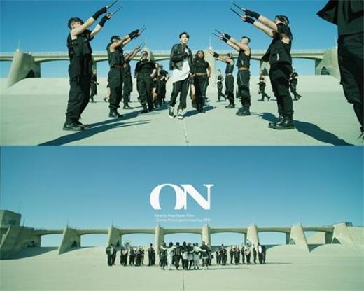 防弹少年团新曲《ON》进入英国单曲榜上位圈