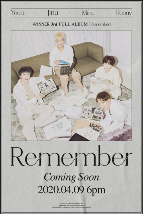 WINNER新专海报公开 新曲《Hold》舞台将通过回归live展示